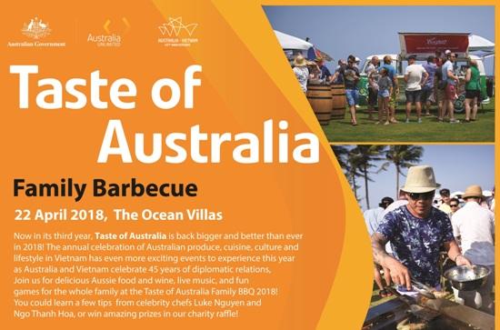 Ngày 22-4: Sự kiện ngoài trời với phong cách Úc kỷ niệm 45 năm quan hệ ngoại giao 2 nước