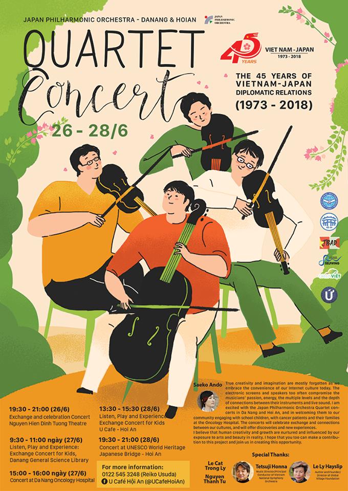 Chương trình biểu diễn nhạc giao hưởng của  nhóm Tứ tấu Nhật Bản tại Đà Nẵng