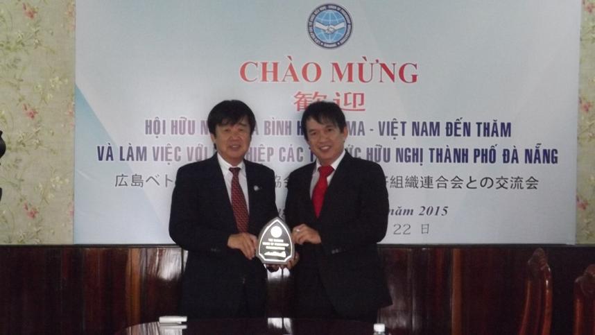 Tiếp Đoàn Hội hữu nghị hoà bình Hiroshima - Việt Nam